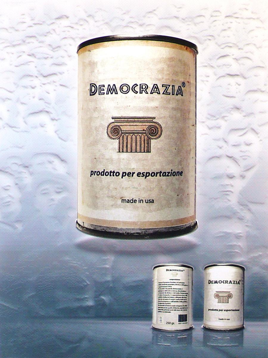 """Maurizio Semplice """"Democrazia ( prodotto per esportazione)"""" 2009"""